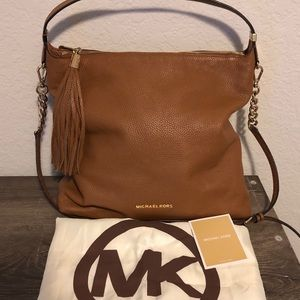 Michael Kors Pebbled Leather Shoulder Satchel